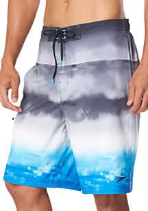speedo® Stretch Sun Set Up Ombre E-Board Swim Shorts