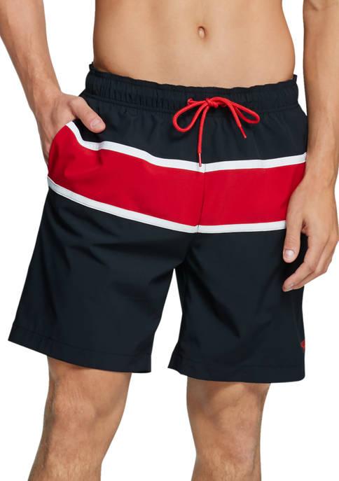 Athletic Color Block Volley Swim Shorts
