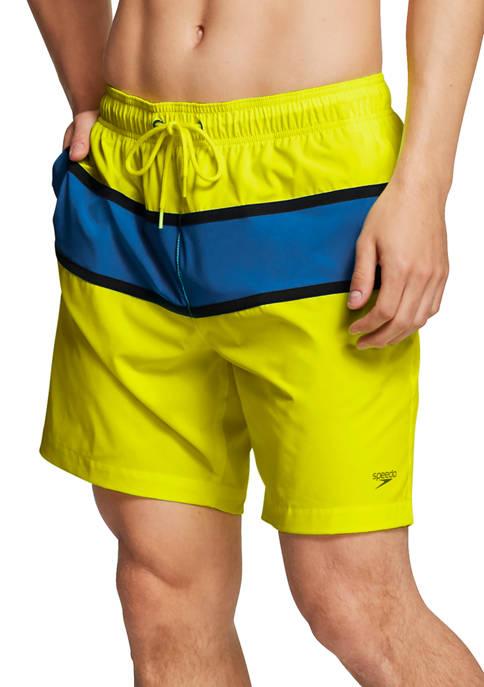 speedo® Athletic Color Block Volley Swim Shorts