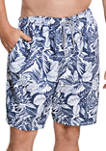 Big & Tall 22 Inch Etched Floral Redondo Volley Swim Trunks