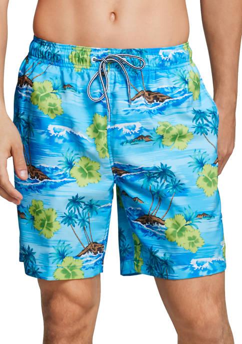 18 Inch Seaside Floral Redondo Volley Swim Trunks
