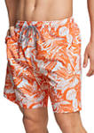 18 Inch Etched Floral Redondo Volley Swim Shorts