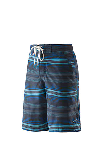 d8fbb595c9 speedo® Straight Away Stripe E-Board Shorts | belk