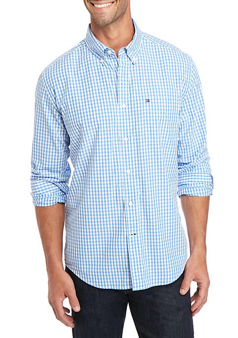 Big & Tall Twain Check Long Sleeve Woven Shirt