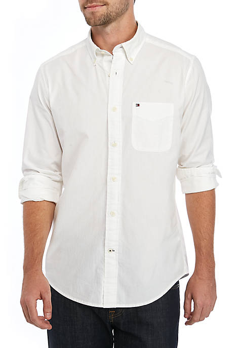 Capote Solid Long Sleeve Woven Shirt
