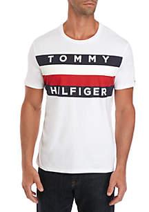 Tommy Hilfiger Big & Tall Short Sleeve Crew Upstate Flag T Shirt