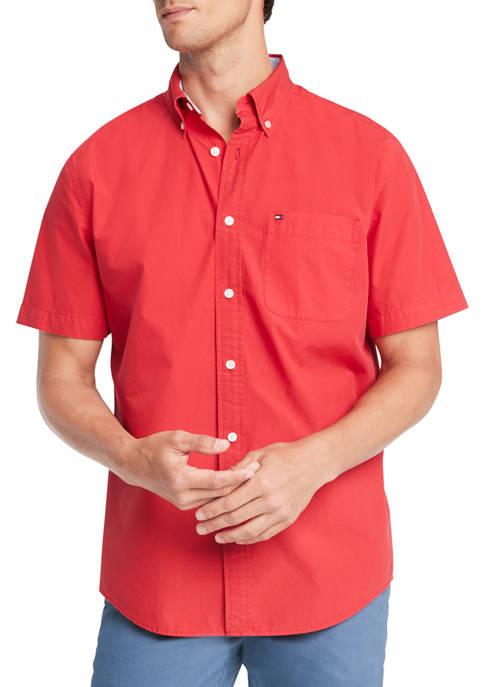 Maxwell Solid Short Sleeve Woven Shirt
