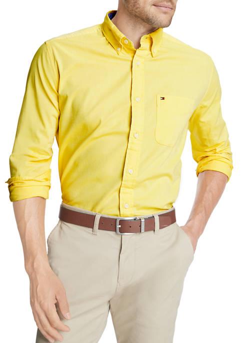 Long Sleeve Stretch Button-Down Shirt