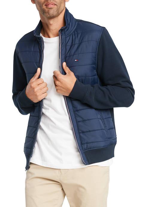 David Full Zip Mock Neck Jacket
