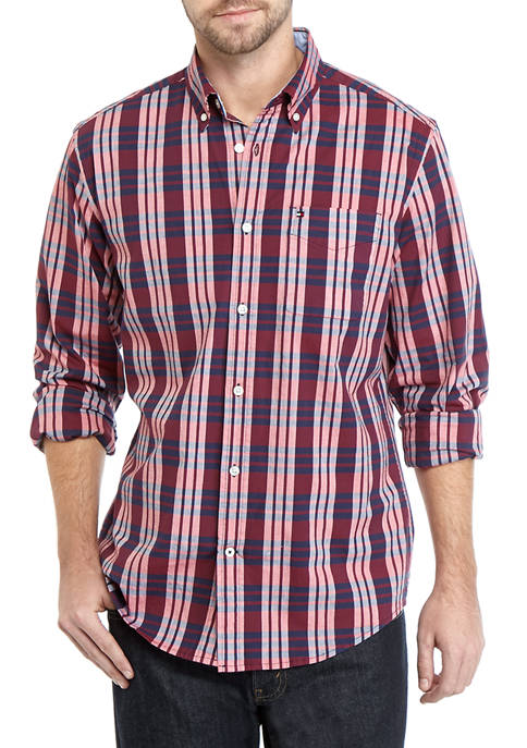 Big & Tall Nash Plaid Long Sleeve Stretch