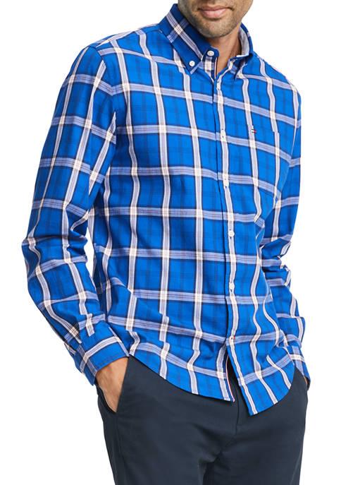 Tommy Hilfiger Ballard Plaid Long Sleeve Stretch Shirt