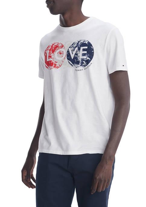 Short Sleeve Globe Love Graphic T-Shirt