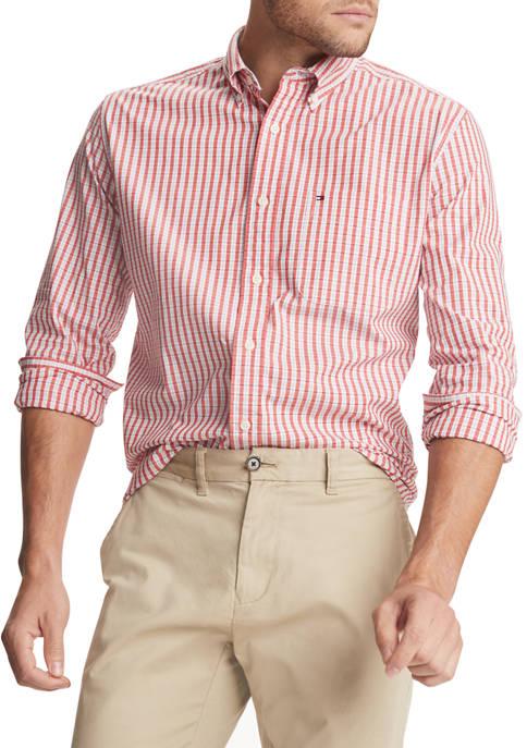 Hazard Plaid Stretch Long Sleeve Shirt