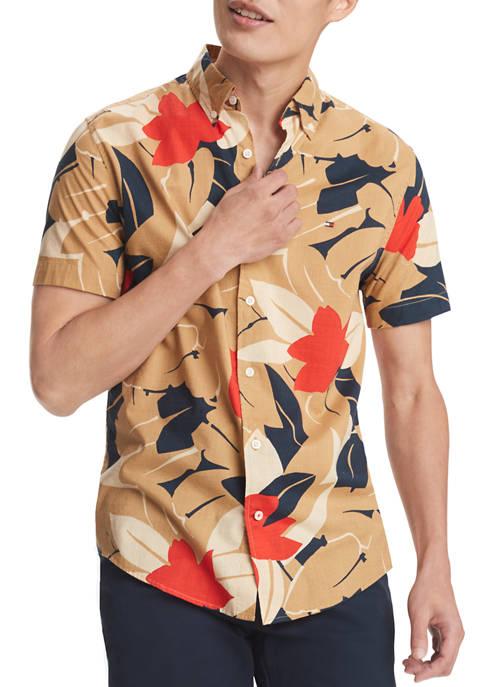 Short Sleeve Floral Button Down Shirt