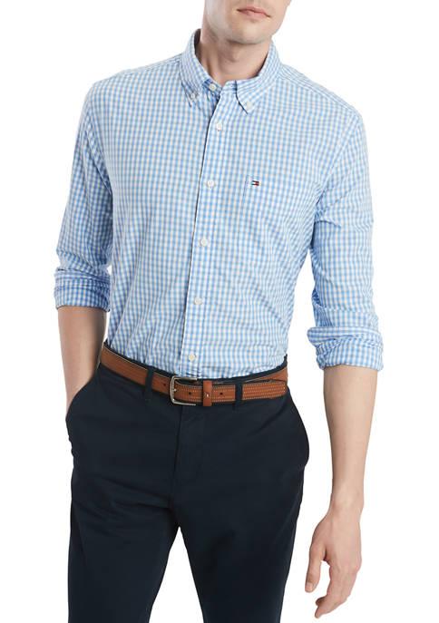 Big & Tall Long Sleeve Check Button Down Shirt