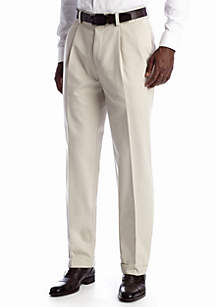 Straight-Fit Dress Khaki Pleat Wrinkle Resistant Pant