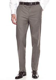 Flat Front Active Flex Gabardine Stretch Dress Pant