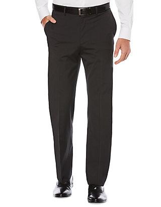 f6d500b363 Savane® Mens Savane Active Flex Waistband Diamond-Textured Flat Front Dress  Pants