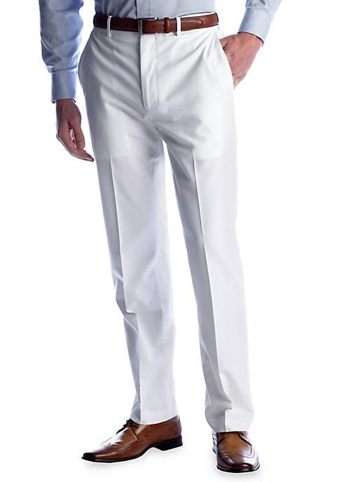 Classic Fit Linen Flat Front Comfort Waist Dress