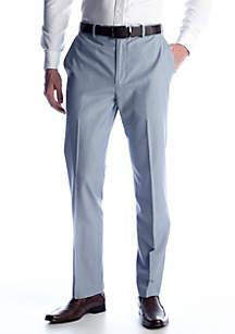 Classic Fit Linen Flat Front Comfort Waist Dress Pants
