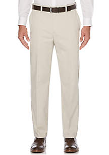 Straight-Fit Eco-Start Flat-Front Wrinkle-Resistant Pants