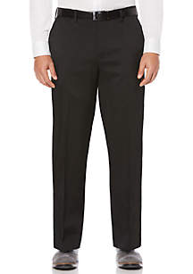 Savane® Savane Men's Flat Front Stretch Crosshatch Dress Pant