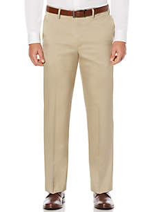 Savane® Savane Men's Flat Front Stretch Crosshatch Dress Pant