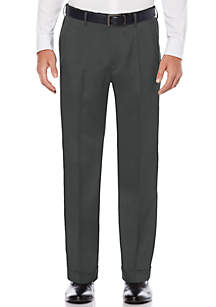 Savane® Pleated Stretch Crosshatch Dress Pants