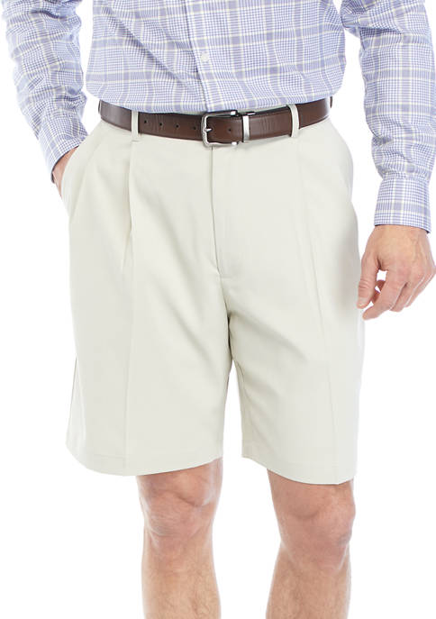 Mens Pleated Flex Shorts