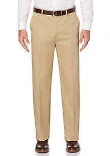 Savane® Eco Start Stretch Flat Front Extender Waist Dress Pants