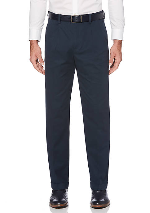 Stretch Pleated Dress Pants