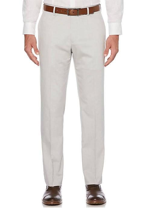 Flat Front Linen Pants