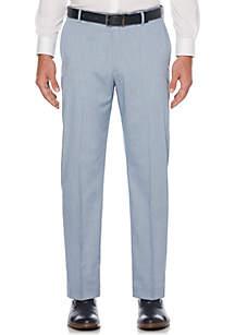 Savane® Flat Front Linen Pants