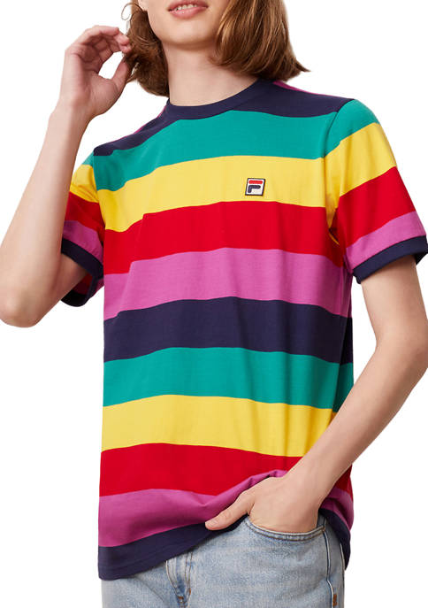 FILA USA Jabez Stripe Graphic T-Shirt