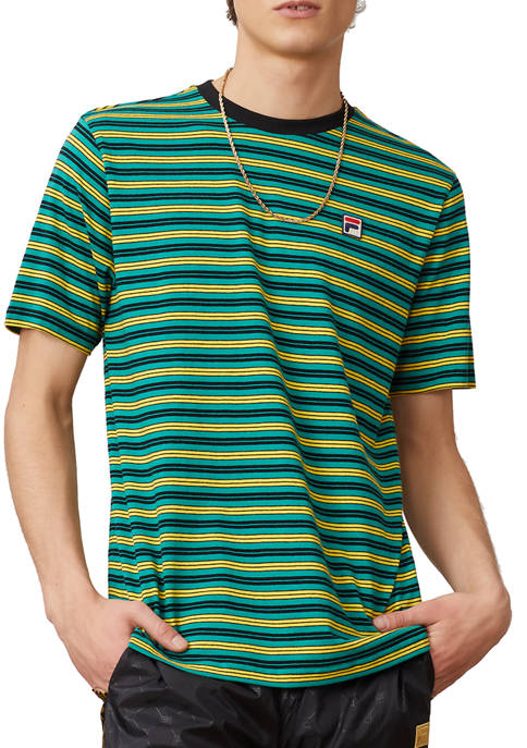 FILA USA Hugh Stripe Graphic T-Shirt