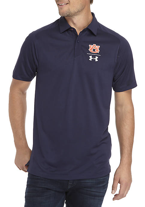 285273dd Under Armour® Auburn Tigers Sideline Pinnacle Polo Shirt