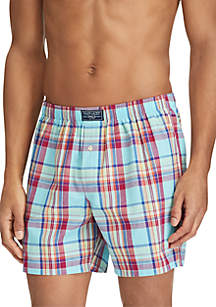 Woven Plaid Boxers