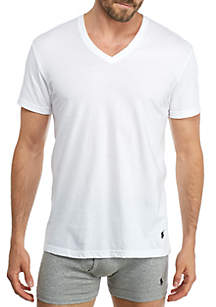 Classic V-Neck T-Shirts - 4 Pack