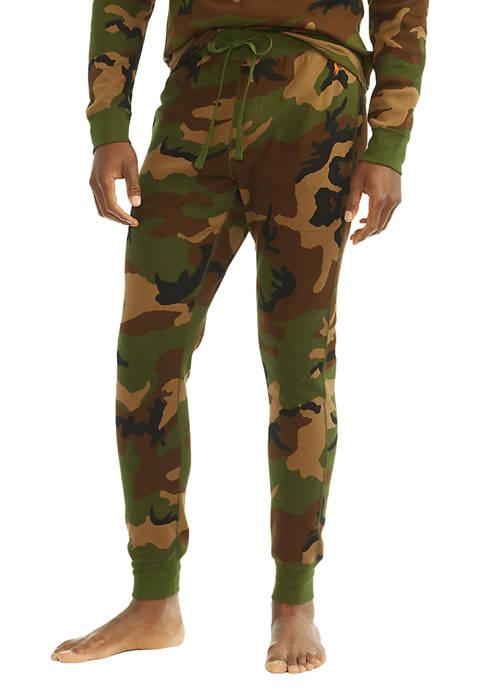 Camo Green Thermal Pajama Joggers