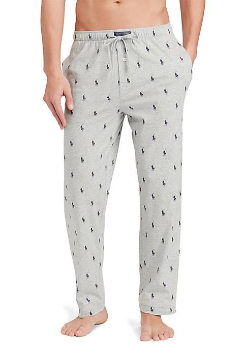 Pony-Print Jersey Pajama Pant
