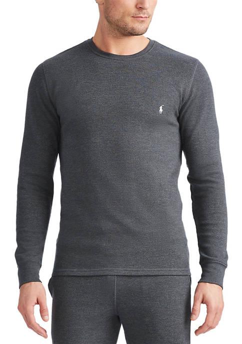 Big & Tall Thermal Waffle Knit Sleep Shirt