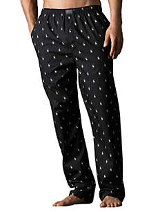 Polo Player Print Pajama Pants