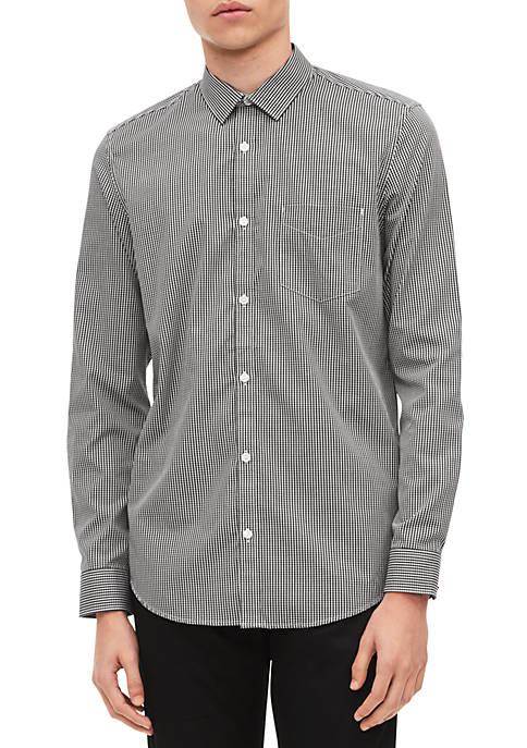 Calvin Klein Long Sleeve Dobby Stripe Shirt