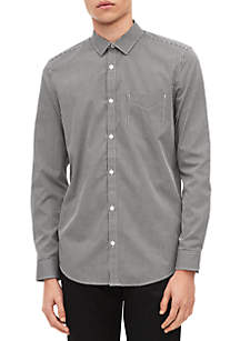 Long Sleeve Dobby Stripe Shirt