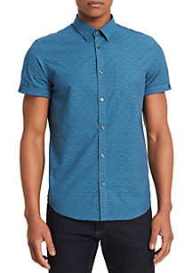 Short Sleeve Broken Horizontal Stripe Shirt