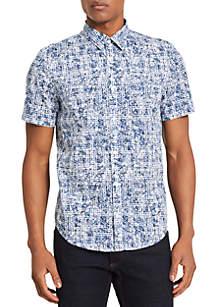Short Sleeve Maze Print Shirt