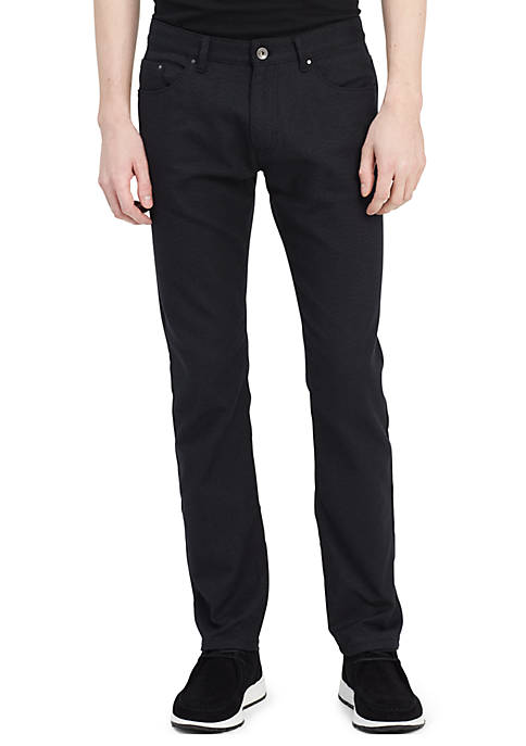 Calvin Klein 5 Pocket Stretch Basket Weave Pant
