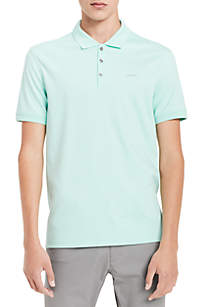 Short Sleeve Solid Liquid Interlock Edition Polo Shirt
