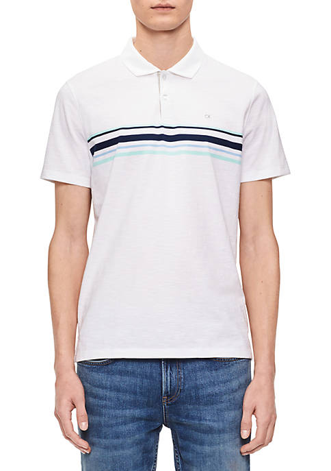 Calvin Klein Short Sleeve Engine Stripe Polo