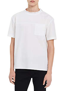 Short Sleeve Placket Printed Shirt